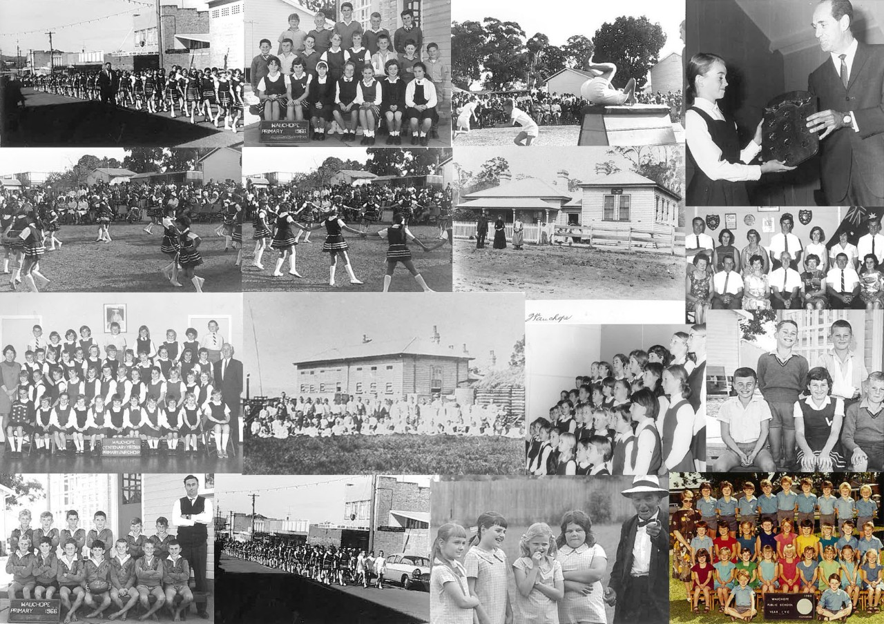 Collage o Wauchope public school's history